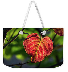 Weekender Tote Bag featuring the photograph The Autumn Heart by Bill Pevlor