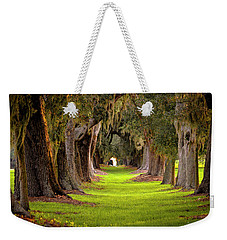 Weekender Tote Bag featuring the photograph The Avenue Of Oaks 4 St Simons Island Ga Art by Reid Callaway