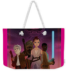 Weekender Tote Bag featuring the drawing the Awakening by Nelson Dedos Garcia