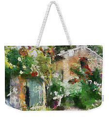 Weekender Tote Bag featuring the painting The Back Door by Dragica  Micki Fortuna