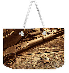 The Badge Weekender Tote Bag by American West Legend By Olivier Le Queinec