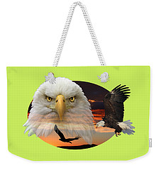 Weekender Tote Bag featuring the photograph The Bald Eagle 2 by Shane Bechler
