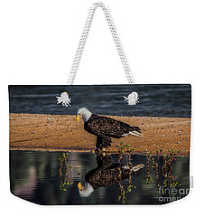 The Bald Eagle Weekender Tote Bag by Mitch Shindelbower