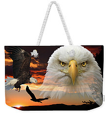 Weekender Tote Bag featuring the photograph The Bald Eagle by Shane Bechler