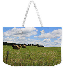 Weekender Tote Bag featuring the photograph The Bales Of Summer 2 by Rick Morgan
