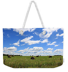 Weekender Tote Bag featuring the photograph The Bales Of Summer 3 by Rick Morgan