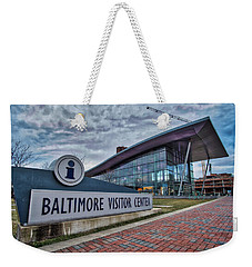Weekender Tote Bag featuring the photograph The Baltimore Visitors Center by Mark Dodd