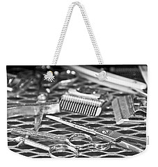 The Barber Shop 10 Bw Weekender Tote Bag by Angelina Vick
