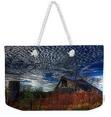 The Barn At Twilight Weekender Tote Bag