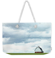 Weekender Tote Bag featuring the photograph The Barn by Rebecca Cozart