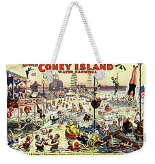 The Barnum And Bailey Greatest Show On Earth The Great Coney Island Water Carnival Weekender Tote Bag by Carsten Reisinger