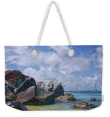 The Baths Virgin Gorda National Park Triptych Weekender Tote Bag