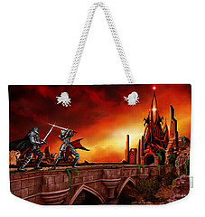 Weekender Tote Bag featuring the painting The Battle For The Crystal Castle by James Christopher Hill