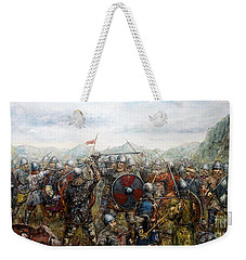 The Battle Of Haugsnes Weekender Tote Bag