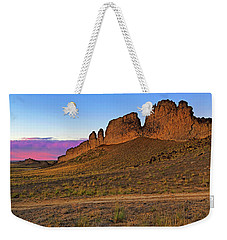 Weekender Tote Bag featuring the photograph The Battlements Of Shiprock - New Mexico - Landscape by Jason Politte