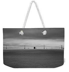The Bay Bridge B/w Weekender Tote Bag