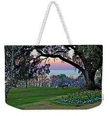 The Bay View Bench Weekender Tote Bag