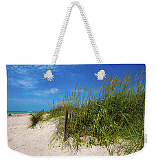 Weekender Tote Bag featuring the photograph The Beach At Pine Knoll Shores by John Harding