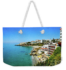 Weekender Tote Bag featuring the photograph The Beach - Nerja Spain by Mary Machare