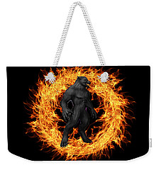 The Beast Emerges From The Ring Of Fire Weekender Tote Bag