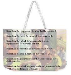 The Beatitudes Weekender Tote Bag