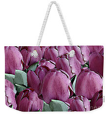 The Beauty And Depth Of A Bed Of Tulips Weekender Tote Bag