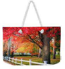 The Beauty Of Autumn In New England Weekender Tote Bag