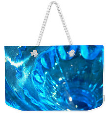 The Beauty Of Blue Glass Weekender Tote Bag by Samantha Thome