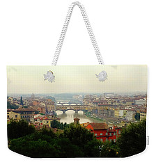 Weekender Tote Bag featuring the photograph The Beauty Of Florence  by Alan Lakin
