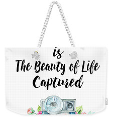Weekender Tote Bag featuring the digital art The Beauty Of Life by Colleen Taylor