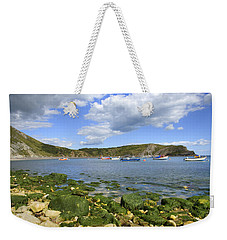 Weekender Tote Bag featuring the photograph The Beauty Of Lulworth Cove by Ian Middleton