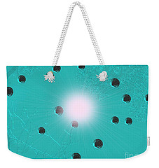 The Beauty Of Ophelias Despair Or Metal Bubbles Rise In Turquoise Water Weekender Tote Bag