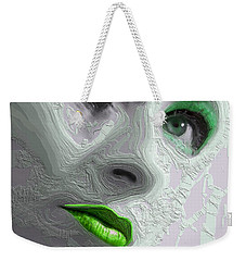The Beauty Regime Green Weekender Tote Bag by ISAW Gallery