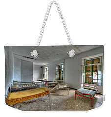 Weekender Tote Bag featuring the photograph The Bedrooms Of The Former Summer Vacation Building - Le Camerate Dell'ex Colonia Marina by Enrico Pelos