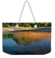 Weekender Tote Bag featuring the painting The Beehive by Jeff Kolker