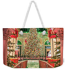 The Bellagio Christmas Tree Under The Arch 2017 Weekender Tote Bag