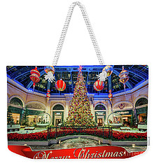 The Bellagio Conservatory Christmas Tree Card 5 By 7 Weekender Tote Bag