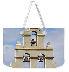 Weekender Tote Bag featuring the photograph The Bells Of San Juan by Mary Jo Allen