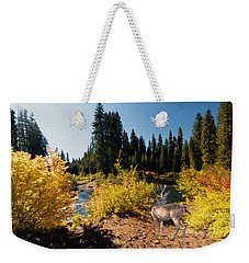 The Bend Of The Rogue River Weekender Tote Bag by Diane Schuster