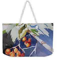 Weekender Tote Bag featuring the painting The Berries by Kris Parins