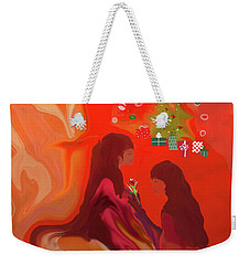 Weekender Tote Bag featuring the digital art The Best Things In Life Are Free by Sherri Of Palm Springs