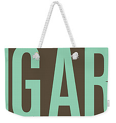 The Big Art - Pure Emerald On Cotton Weekender Tote Bag