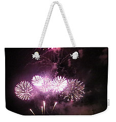 Weekender Tote Bag featuring the photograph The Big Big Boom by Aaron Martens