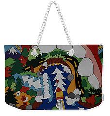 The Big Bite Weekender Tote Bag by Rojax Art