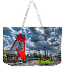 Weekender Tote Bag featuring the photograph The Big Chicken by Reid Callaway