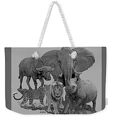 The Big Five Weekender Tote Bag