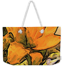 The Big Gold Flower And The White Roses Weekender Tote Bag