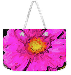 The Big Pink And Yellow Flower In The Little Vase Weekender Tote Bag