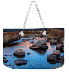 The Big Thompson River Flows Through Rocky Mountain National Par Weekender Tote Bag by Ronda Kimbrow