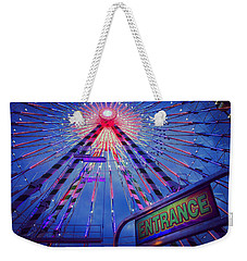 Weekender Tote Bag featuring the photograph The Big Wheel by Heidi Hermes
